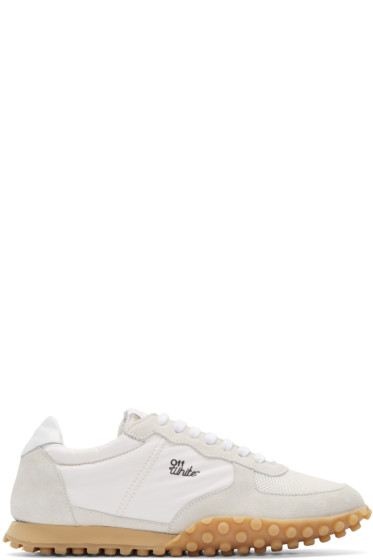 Off-White - White Vintage Runner Sneakers