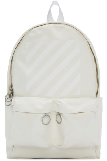 Off-White - Off-White Canvas Diagonals Backpack