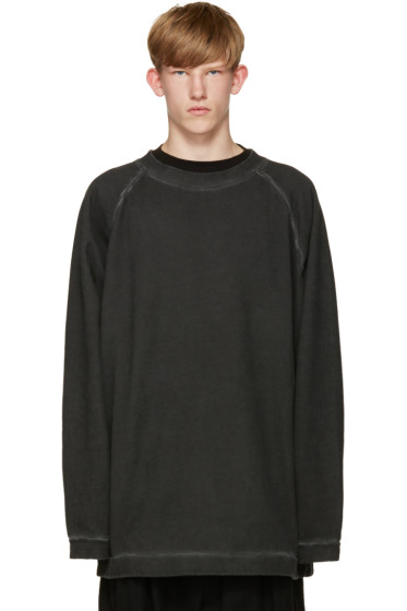 Off-White - Black Garment-Dye Pullover