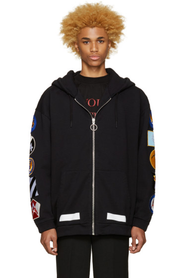 Off-White - Black Patches Hoodie