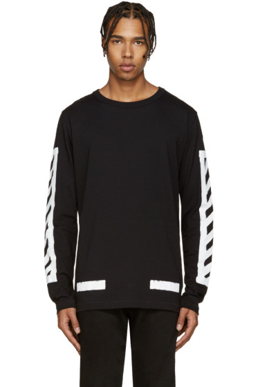 Off-White - Black Brushed Diagonals T-Shirt