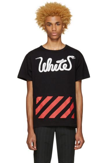 Off-White - Black White Patchwork T-Shirt