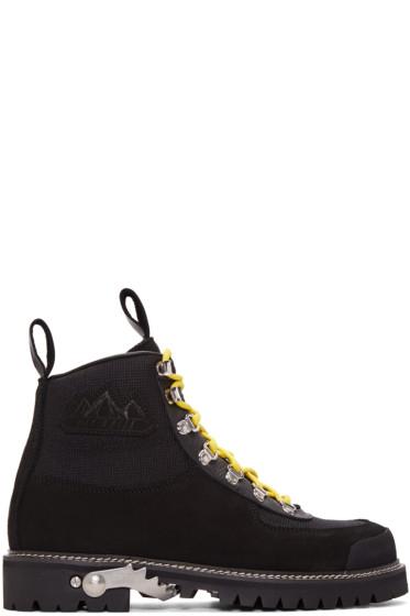 Off-White - Black Cordura Hiking Boots