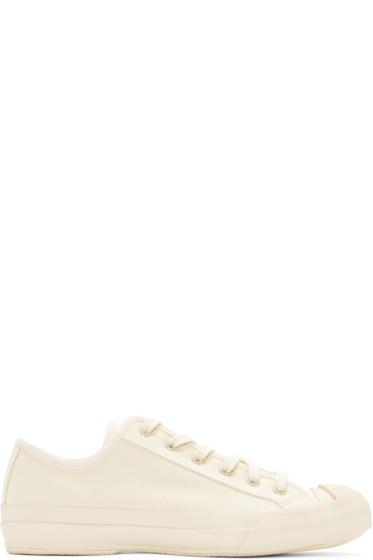 Studio Nicholson - Ivory Canvas Merino Sneakers
