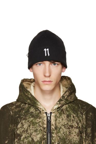 11 by Boris Bidjan Saberi - Black Logo Beanie