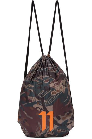 11 by Boris Bidjan Saberi - SSENSE Exclusive Green Drawstring Bag