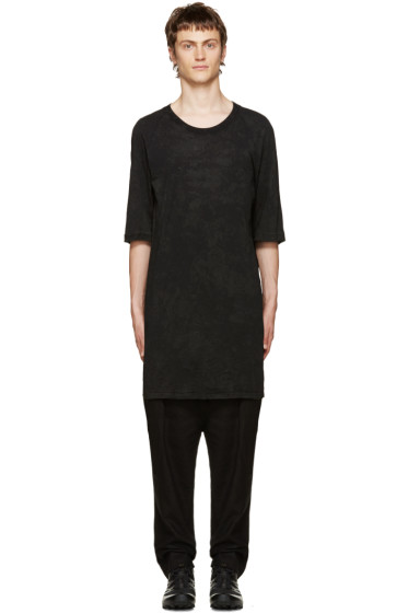 11 by Boris Bidjan Saberi - Black Coated T-Shirt
