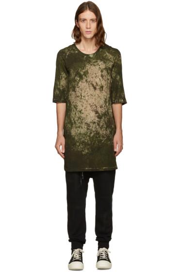 11 by Boris Bidjan Saberi -  Green Camo Wash T-Shirt