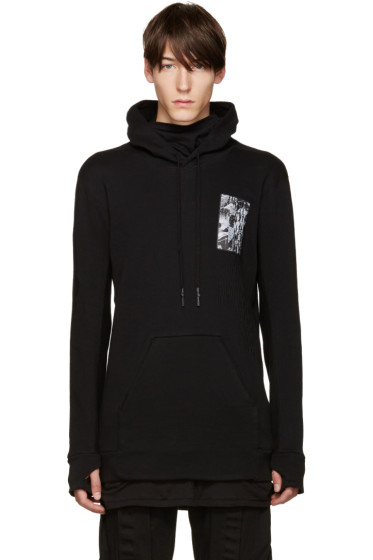 11 by Boris Bidjan Saberi - Black Patch Hoodie