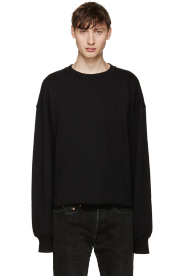 Johnlawrencesullivan - Black Oversized Pullover