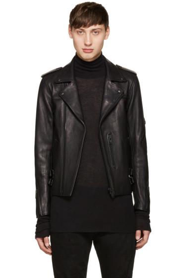 Blackmeans - Black Leather Biker Jacket