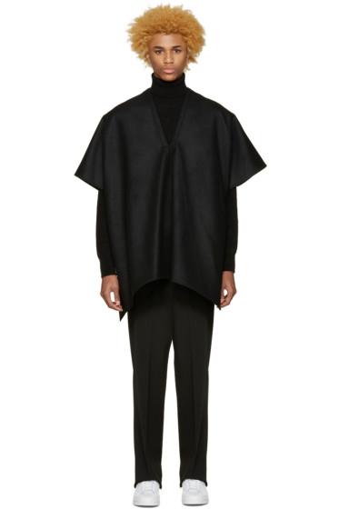 Undecorated Man - Black Felted Poncho