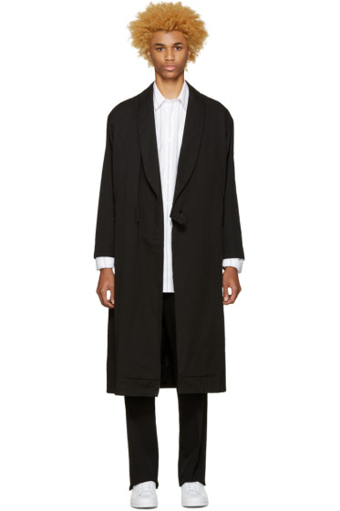 Undecorated Man - Black Twill Gown Coat