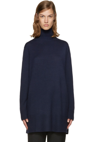 Jil Sander Navy - Navy Wool Turtleneck