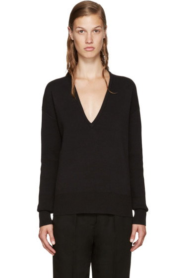 Nomia - Black Oversized V-Neck Sweater