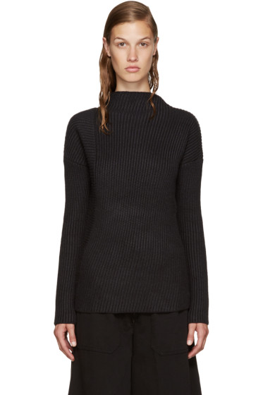 Nomia - Black Asymmetric Turtleneck