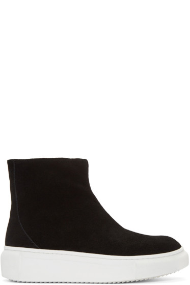 D by D - Black Suede High-Top Sneakers