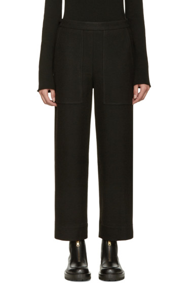 Lemaire - Black Wide-Leg Wool Trousers