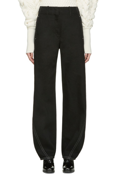 Lemaire - Black Large Twisted Jeans