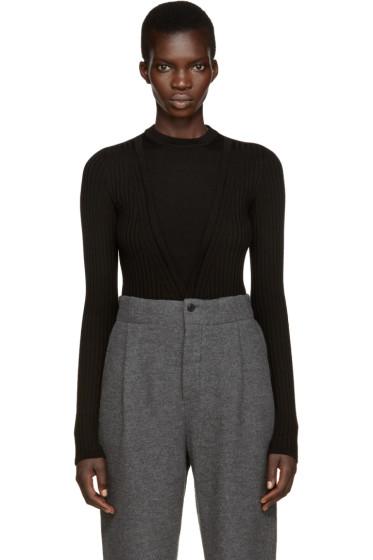Lemaire - Black Trompe L'Oeil Sweater