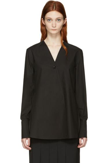 Lemaire - Black Wrapover Shirt