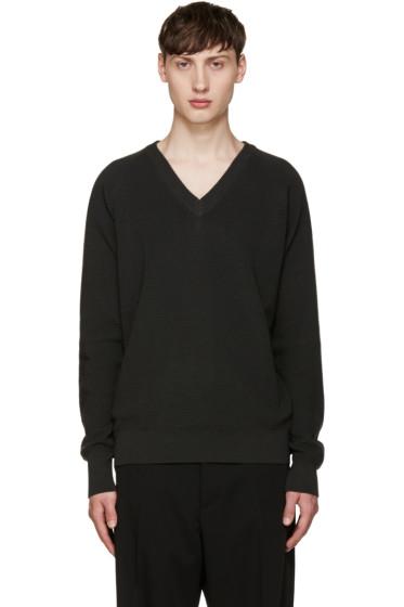Lemaire - Grey V-Neck Sweater