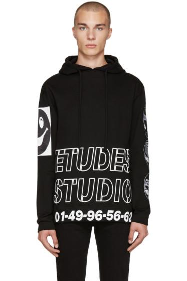 Etudes - Black & White Print Hoodie