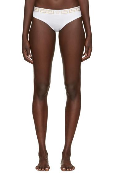 Versace Underwear - White Logo Briefs