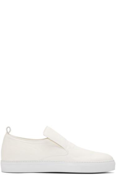 AD Ann Demeulemeester - White Arid Slip-On Sneakers