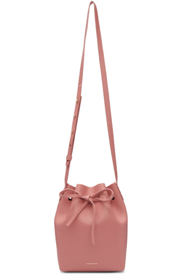 Mansur Gavriel - Pink Leather Mini Bucket Bag