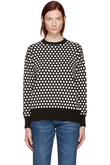 Edit - Black & White Polka Dot Sweater