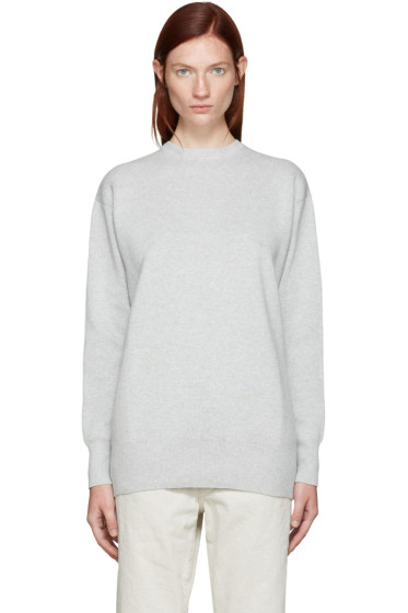 Edit - Grey Tie Back Pullover