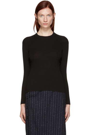 Edit - Black Ribbed Mock Neck Sweater