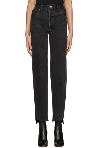 Vetements - Black Reworked Jeans