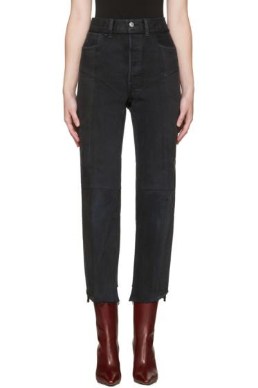 Vetements - SSENSE Exclusive Black Reworked Jeans