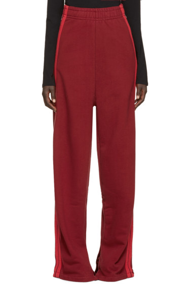 Vetements - Burgundy Wide-Leg Lounge Pants