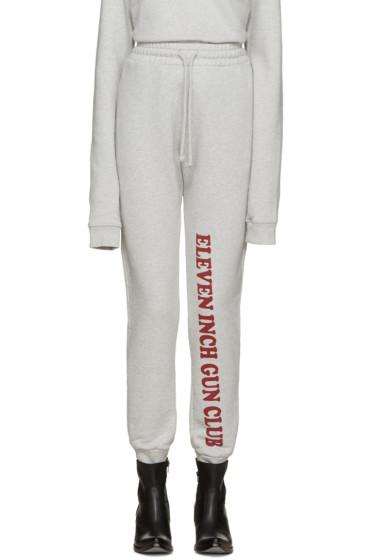 Vetements - Grey 'Eleven Inch Gun Club' Lounge Pants