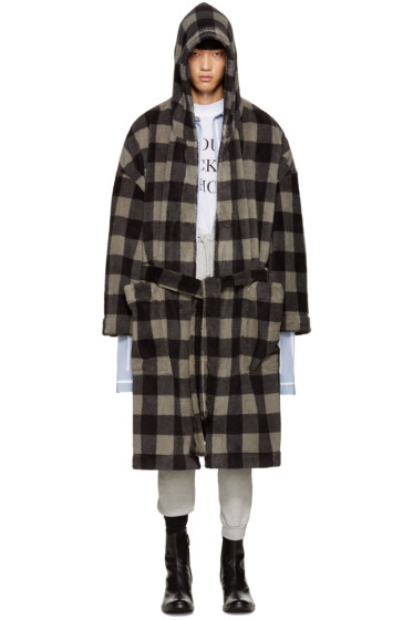 Vetements - Grey Check Bathrobe