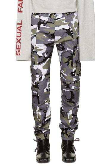 Vetements - Grey Camo Cargo Trousers