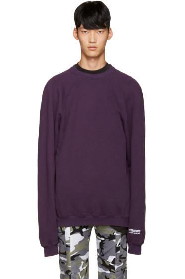 Vetements - Purple 'Unskinny' Pullover