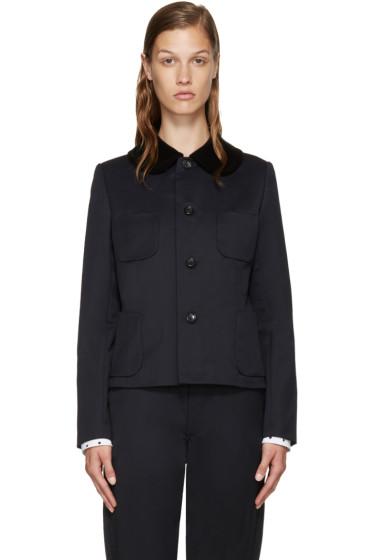 Comme des Garçons Girl - Navy Velvet Collar Blazer