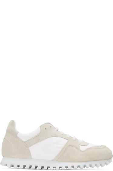 Comme des Garçons Comme des Garçons - White & Beige Spalwart Edition Marathon Trail Sneakers