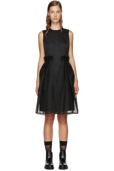 Noir Kei Ninomiya - Black Chiffon Overlay Dress