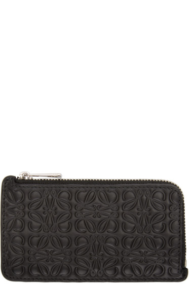 Loewe - Black Monogram Card Holder