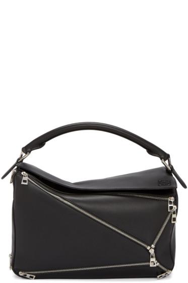 Loewe - Black Puzzle Zips Bag