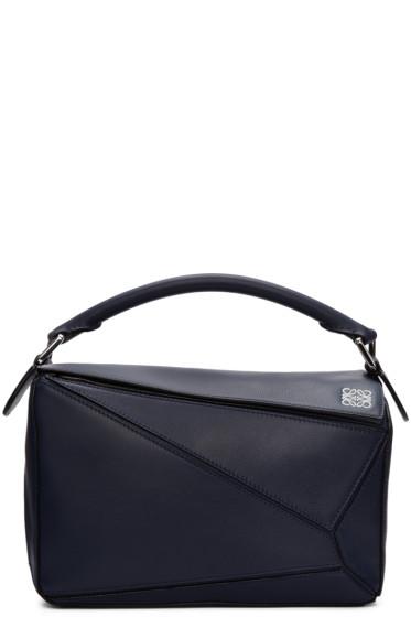 Loewe - Navy Small Puzzle Bag