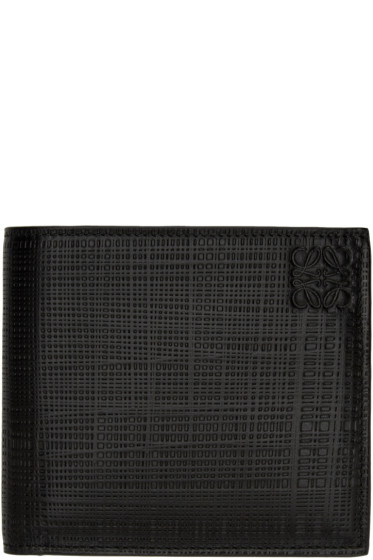 Loewe - Black Textured Leather Wallet