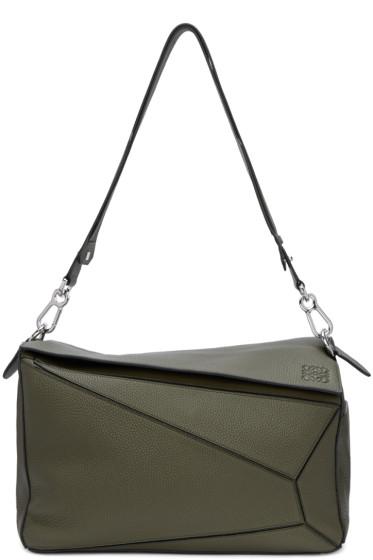 Loewe - Green Large Puzzle Bag