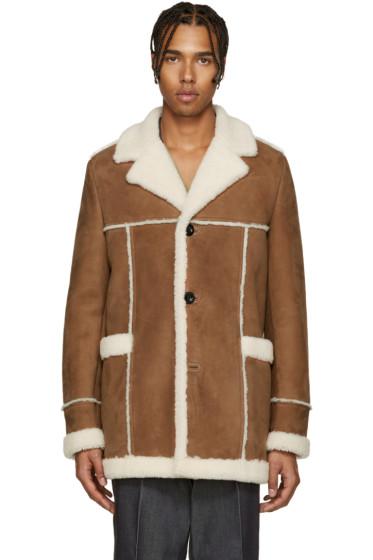 Loewe - Brown Shearling Coat