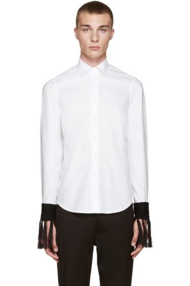 Loewe - White Fringed Cuff Shirt